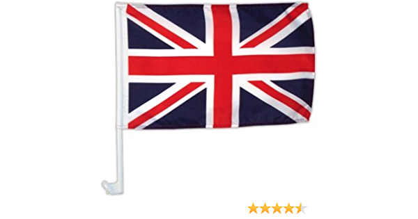 Autofahne Autoflagge Großbritannien Union Jack 30 X 45 Cm Sport Freizeit