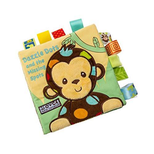 TrifyCore Baby-Tuch-Bücher Weiche Nontoxic Stoff Früherziehung Spielzeug Aktivität Crinkle-Tuch-Buch für Kleinkind Säuglinge und Kinder 1pc AFFE