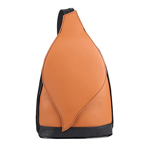 fc0b0695f5d5d OBC Made in Italy DAMEN echt Leder RUCKSACK Minirucksack Lederrucksack Tasche  Schultertasche Ledertasche Rucksack Handtasche Nappaleder