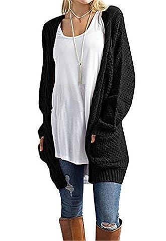 ELFIN® Femme pull manche longue cardigan en tricot casual sweaters avec poches pull veste sans bouton