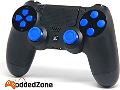 """Black/Blue"" PS4 Rapid Fire Modded Controller for COD Black Ops3, Infinity Warfare, AW, Destiny, Battlefield: Quick Scope, Drop Shot, Auto Run, Sniped Breath, Mimic, More"