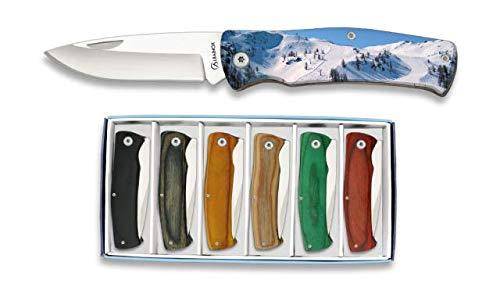Albainox Messerset Ski Resort Motiv 6 Taschenmesser Freizeitmesser Spanische Messer