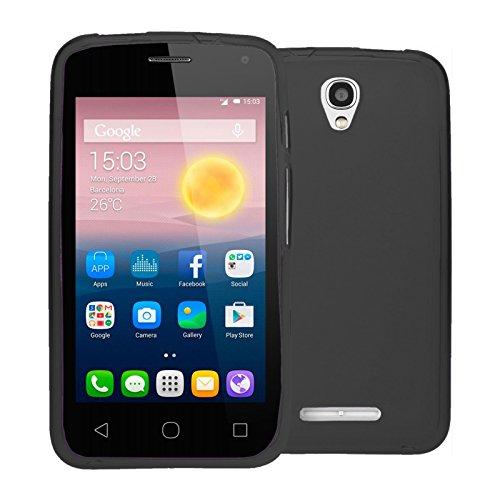 TBOC® Schwarz Gel TPU Hülle für Alcatel One Touch Pixi First - Pixi 1st (4.0 Zoll) Ultradünn Flexibel Silikonhülle