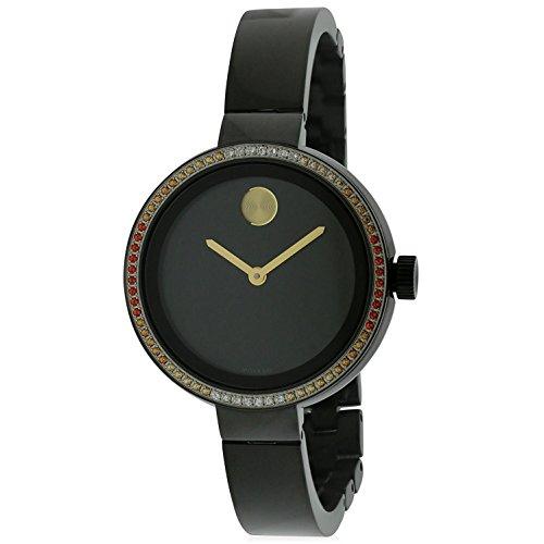 MOVADO WOMEN'S BLACK IP STEEL BRACELET & CASE SWISS QUARTZ WATCH 3600283