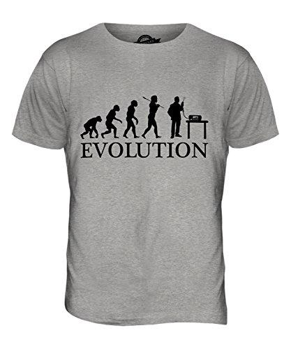 CandyMix Cb Funk Evolution Des Menschen Herren T Shirt Grau Meliert