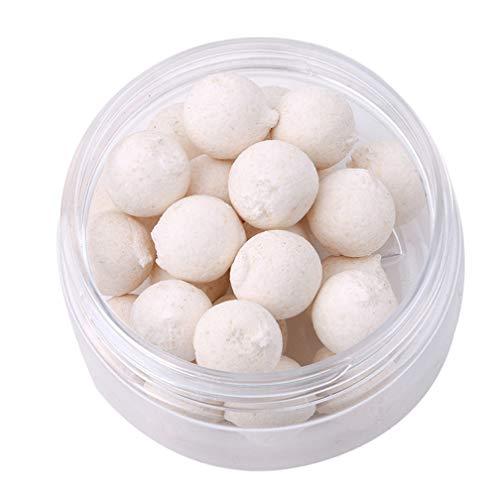 LJSLYJ Geruch Pop Up Karpfenangeln Köder Floating Ball Perlen Feeder Künstliche Karpfen Köder Locken für Salzwasser Süßwasserfischen (weiß, 14mm) -