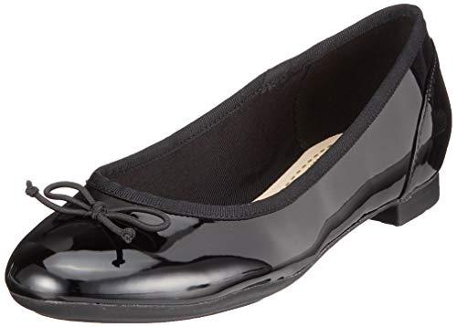 Clarks couture bloom, ballerine donna, nero, 43 eu