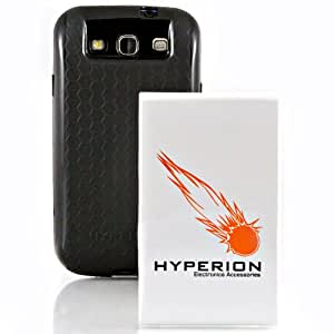 Hyperion Samsung Galaxy SIII 4200mAh Extended Battery + Titanium Grey Back Cover (Compatible with Samsung Galaxy S III GT-i9300 AT&T Samsung Galaxy S3 Samsung i747 Verizon Samsung Galaxy S3 Samsung i535 T-mobile Samsung Galaxy S3 Samsung T999 U.S. Cellular Samsung Galaxy S3 R530 and Sprint Samsung Galaxy S3 Samsung L710)**NOW WITH NFC**
