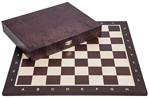 Square - Profesional Ajedrez de Madera Nº 5 - WENGE Lux - Tablero de ajedrez + Figuras - Staunton 5