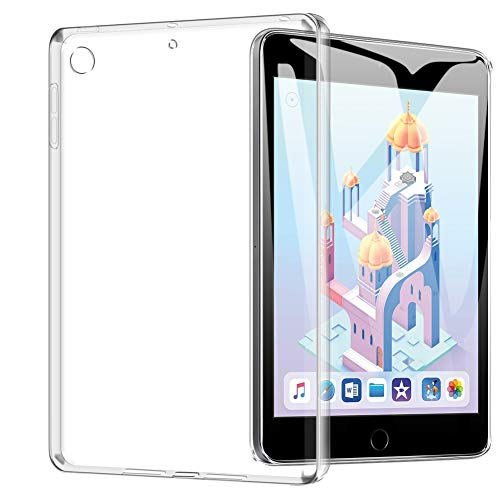 TopACE Hülle für iPad Mini 5/iPad Mini 2019, Ultra Schlank TPU Hülle Schutzhülle Durchsichtig Klar Silikon transparent für iPad Mini 5 2019(Transparent) (Schutzhülle Mini Ipad)