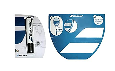 Babolat Tennis Racket String Stencil and Ink Marker (Black Ink