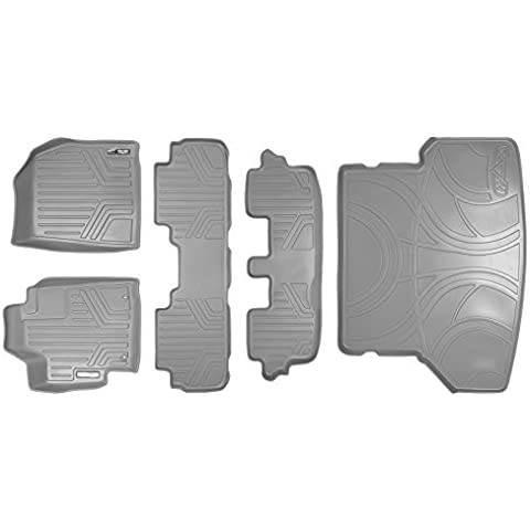 Maxliner MAXFLOORMAT Complete Set Custom Fit All Weather Floor Mats For Select Toyota Highlander Models - (Grey) by MAXLINER