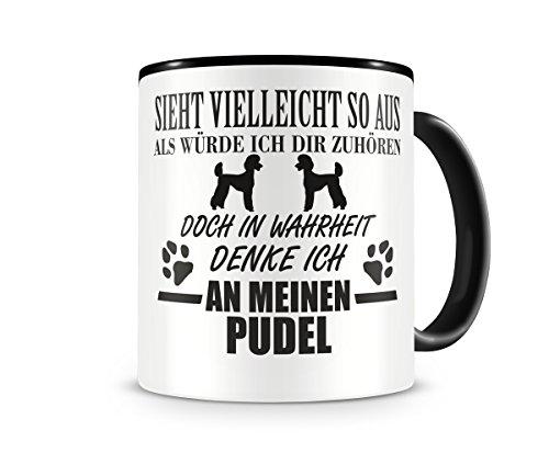 plot4u Ich denke an meinen Pudel Hunde Tasse Kaffeetasse Teetasse Kaffeepott Kaffeebecher Becher