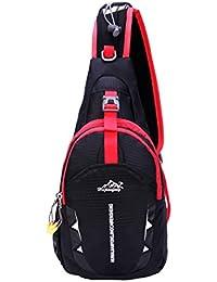 Hongxing ligera pecho Sling hombro mochilas bolsas Fashion Cute cruzado triángulo Pack mochila para senderismo, ciclismo, viajar o multiusos Daypacks, negro