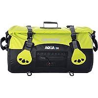 Oxford Aqua T50 moto imperméable pour bagage 50 L noir-Jaune Fluo