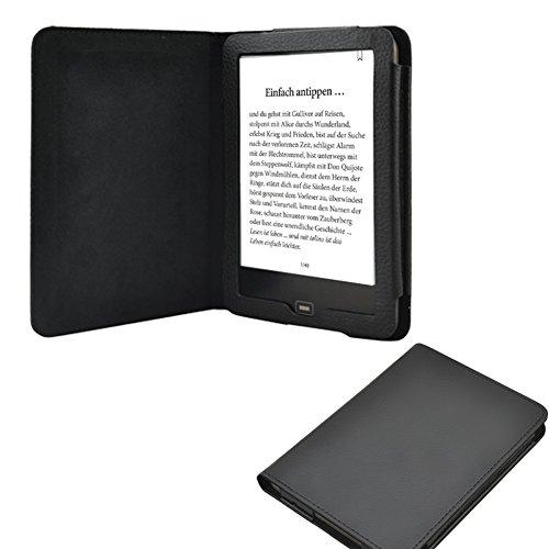 NAUC Tasche Hülle Cover für Tolino Vision 2 3 4 HD Ebook Reader Schutzhülle Case, Farben:Schwarz