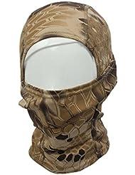 Vovotrade Camuflaje Ejército Táctico Ciclismo Motocicleta Gorra Pasamontañas Sombreros Completo Cara Cuello Máscara (Beige)