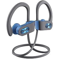 Mpow Écouteur Bluetooth Sport, Flame IPX7 Casque de Sport Intra Auriculaires Léger avec Micro Anti-Bruit, Oreillette Bluetooth Sport 10H Lecteur Musique pour Course/Gym/Jogging