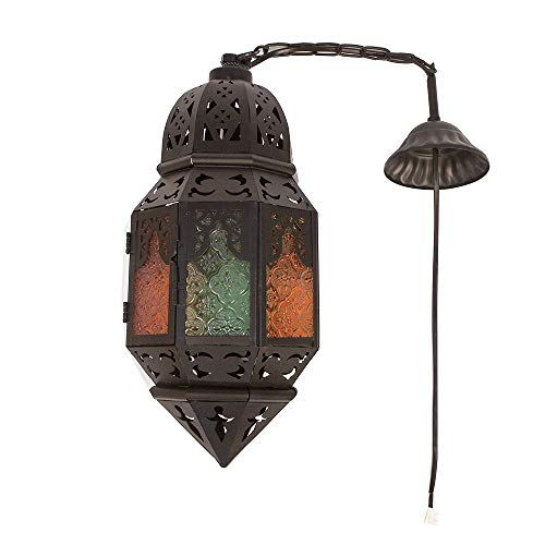 Kindgoo Lámpara Árabe Techo Lámpara Oriental Marroquí