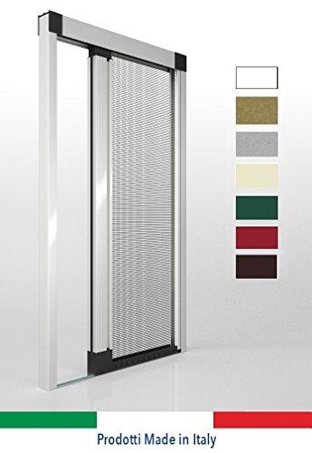 Ortende - zanzariere per porte finestre, zanzariera laterale mod rollout senza guida inferiore, produzione su misura, non kit cinesi di pessima qualita'.