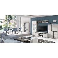centro hogar sanchez Composición Modular para salón 300 cm con Leds Acabado en Color Roble Mozart