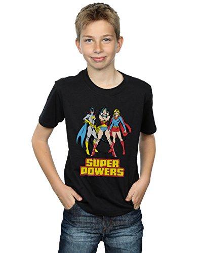 DC Comics Jungen Wonder Woman Super Power Group T-Shirt 9-11 Years Schwarz