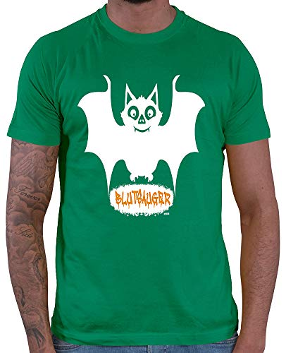 Groß Spaß Kostüm Kind Clown Top - HARIZ  Herren T-Shirt Blutsauger Halloween Kostüm Horror Kürbis Plus Geschenkkarte Grün M