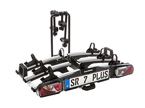 Bullwing SR7 Plus Fahrradträger für die Anhängerkupplung, E-Bikes geeignet, mit Schnellverschluss, zusammenklappbar und vormontiert