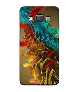 FUSON Designer Back Case Cover for Samsung Galaxy A7 (2015) :: Samsung Galaxy A7 Duos (2015) :: Samsung Galaxy A7 A700F A700Fd A700K/A700S/A700L A7000 A7009 A700H A700Yd (White Background Multi Colour Fog Smoke Painting Arts)