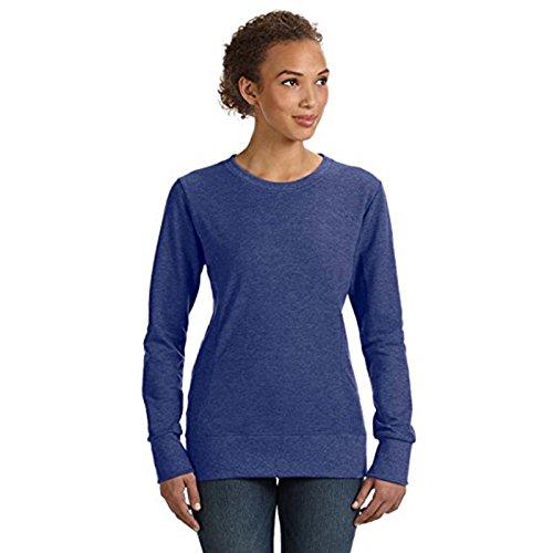 Anvil Damen Modern Sweatshirt Gr. Small, Heather Blue (Shirt Anvil Sleeve Polo Short)