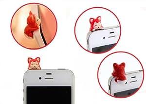 bouchon anti poussière renard prise écouteur 3.5mm iphone samsung htc nokia...