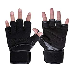 RFGHATG Gym Weightlifting Gloves Weightlifting Fitness Sports Non-Slip Breathable Half Finger Sports Training Wrist Gloves