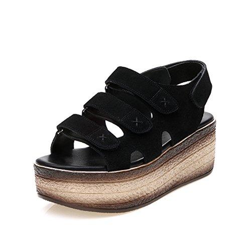 ZPPZZP Ms sandali spessa un tessuto traspirante confortevole stile minimalista 38EU