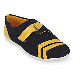 Scantia Stylish & Comfortable Casual Slip-On Shoes For women ( Colour : Black::Red )
