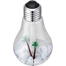 400ml Humidificador Aromaterapia Difusor Aroma Botella Esmerilada Bombilla Luz Colores Decoración para Hogar Oficina - Plata