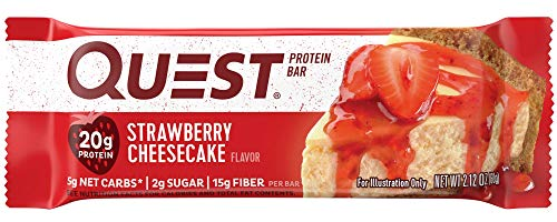 Quest Nutrition Strawberry Cheesecake Protein Bars - Pack of 12 Protein Bars