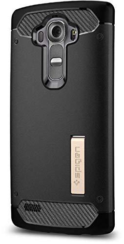 Spigen LG G4 Hülle, [Rugged Armor] Silikon FlexTPU [Schwarz] Ultimative Schutz vor Stürzen und Stößen [Karbon Look] Schutzhülle für LG G4 Case, LG G4 Cover Black (SGP11516)