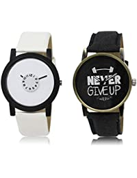The Shopoholic White Black Combo Latest Collection Fancy And Attractive White And Black Dial Analog Watch For...
