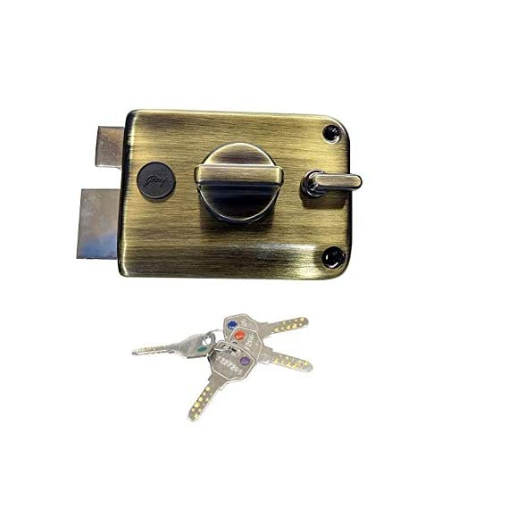 godrej Ultra XL+ Twinbolt 1CK DEADBOLT 4 Keys Antique Brass (Free Installation by GODREJ)