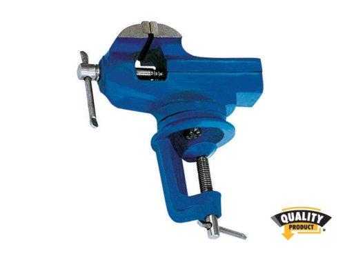 Schraubstock, drehbar, 60mm, blau