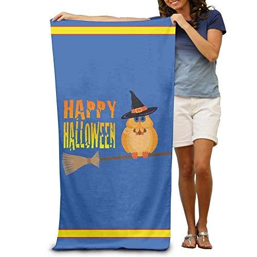 xcvgcxcvasda Asciugamano da Bagno, Soft, Quick Dry, Halloween Owl On Broomstick Adults Beach Towel 31 X 51-inch