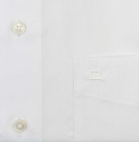 OLYMP - Chemise casual - Uni - Col Chemise Classique - Manches Longues - Homme Blanc