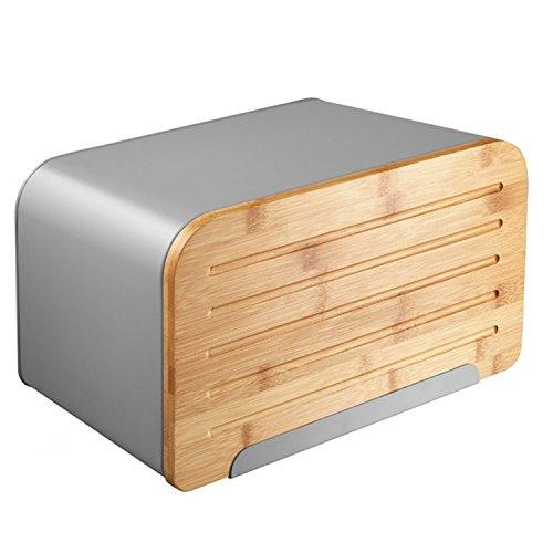 Ambition Nordic Brotbehälter mit schneidebrett Brotkasten (Grau)