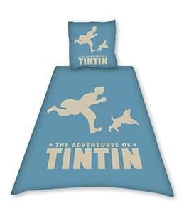 Tintin Blue Sand Single Duvet Set Panel Print