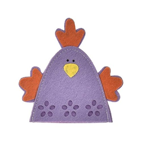 4Ostern Küken Huhn Ei Decor Geschenk, Bezüge, niedliche Ei Ei Halter Decor Ornament Free Size violett