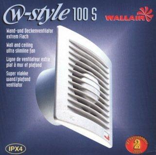 Lüfter Ventilator W-Style S Bad WC Küche 100 mm 95m³/h -