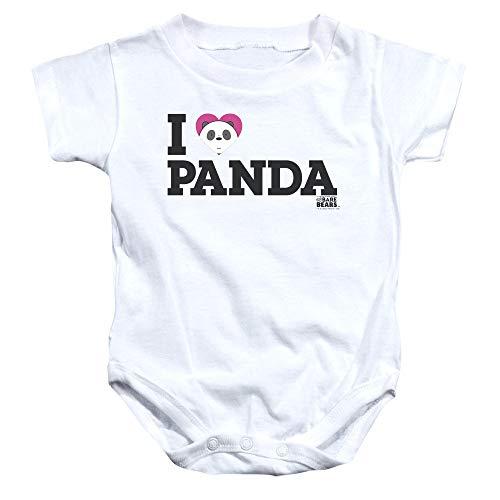 We Bare Bears - - Panda Onesie Coeur Enfant, 12 Months, White