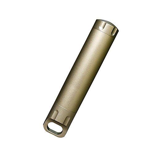 Eizur Mini-Kapsel/ Pillendose Wasserdichte Kapsel Pillen Box Cash Stash Aufbewahrung von Kleinteilen Aufbewahrungsbox für Draussen Camping Überleben Gang Luft- und Raumfahrt harte Aluminiumoxid 2 Farben- Gold