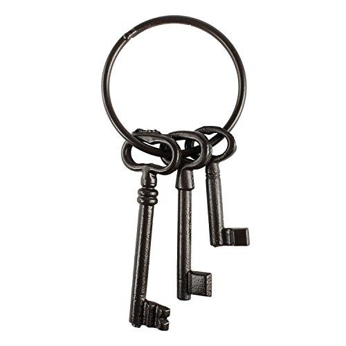 Piraten Schatzkiste Schlüssel Set–Gusseisen Skelett Schlüssel Ring Antik -