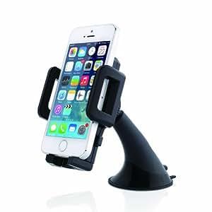 Aukey® Support voiture universel/ support de téléphone portable /ventouse pare-brise pour l'iPhone 5/4S/4 Samsung Galaxy S5/S4/Note2/Note3/HTC Nokia BlackBerry Smartphone 360 degrés